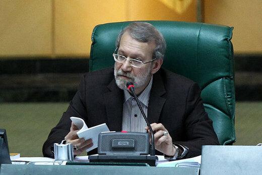 لاریجانی:هدف آمریکا، آتش زدن منافع ملت و بهم ریختن امنیت ماست