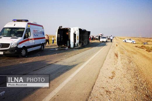 علت حادثه تصادف برای سرویس کارکنان بندر ماهشهر جه بود؟