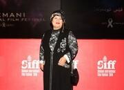 پوران درخشنده با لباس کردی در جشنواره سلیمانیه/ عکس