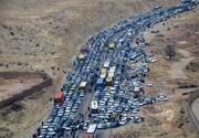 ترافیک در جادههایی که به مرز چذابه میرسد روان ولی شلوغ است