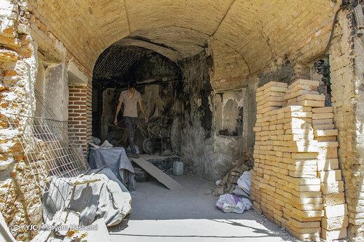 بازار تبریز بعد از آتشسوزی