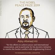 نوبل صلح ۲۰۱۹ به نخستوزیر اتیوپی رسید