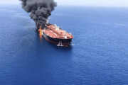 فیلم | گزارش سیانان از اصابت دو موشک به نفتکش ایرانی