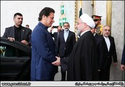 President Rouhani officially welcomes Pakistan's PM Imran Khan