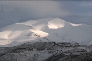 فیلم | بارش نخستین برف پاییزی در مشکین شهر