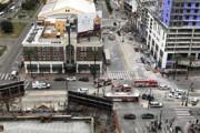 فیلم | فاجعه در هتل در حال ساخت در آمریکا؛ نصف ساختمان ریخت!