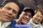 عکس | شاهرخ خان، ژان کلود وندام و جکی چان در یک قاب
