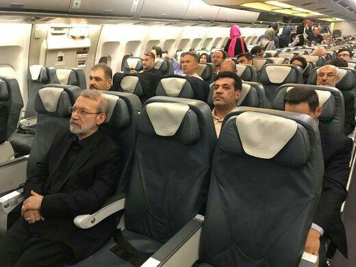 سفر رئیس مجلس به صربستان با پرواز غیراختصاصی و عادی/عکس