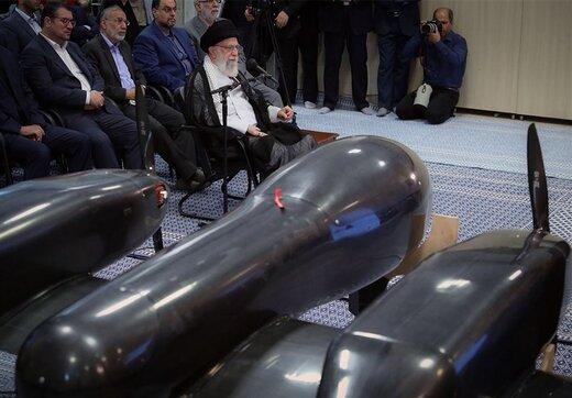 پهپاد جدیدی که در حضور رهبری نمایش داده شد را بشناسید/برنامه ایران برای ساخت پهپادهای دو موتوره +عکس