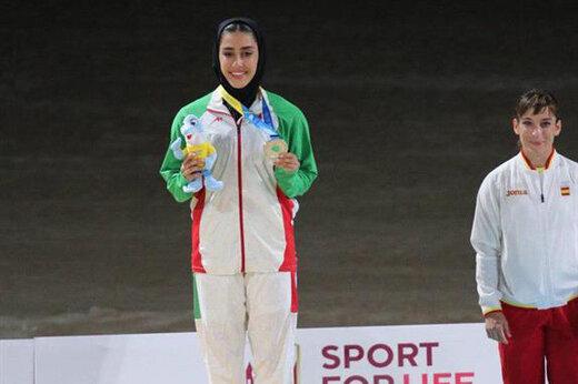 فاطمه صادقی با نقره خود نخستین مدال ایران در بازیهای ساحلی را به گردن آویخت