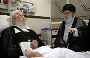 عیادت رهبر انقلاب اسلامی از آیت الله مکارم شیرازی در بیمارستان