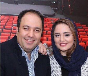 الناز حبیبی در کنار علی اوجی و نرگس محمدی/ عکس
