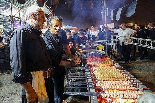 خدمترسانی به زائران اربعین حسینی در مرز شلمچه
