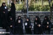 تصاویر | تجمع خانواده شهدای پلاسکو مقابل شهرداری تهران
