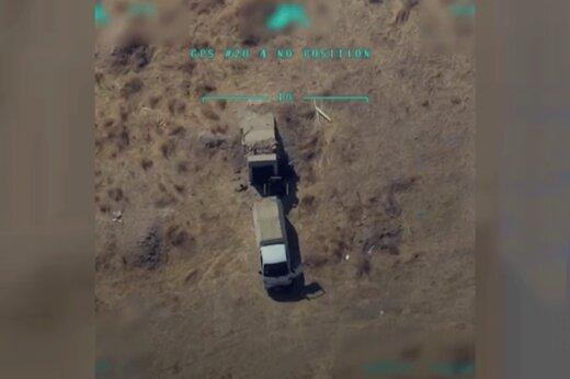 فیلم | حمله به پیشمرگههای کرد از دوربین پهپاد ترکیهای