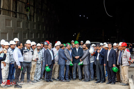 بازدید شهردار تهران از پروژههای زیرگذر گیشا و استاد معین
