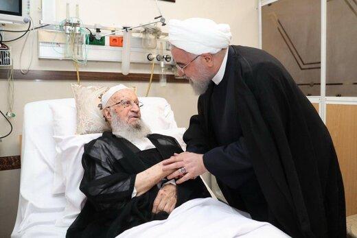 روحانی در عیادت از آیتالله مکارم شیرازی: منشا خدمات زیادی در حوزههای علمیه بودهاید