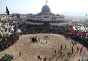 راهپیمایی جاماندگان اربعین از میدان لاله تا امامزاده «شاه کرم» اصفهان