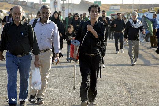 تردد زوار اربعین از پایانه مرزی خسروی