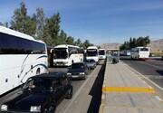 جادههای منتهی به مهران و ایلام ترافیک سنگین دارد
