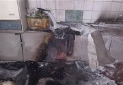 انفجار و آتشسوزی مغازه صافکاری ۳ مرد را سوزاند