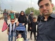 عکسی از آقای وزیر و خانوادهاش در راهپیمایی اربعین