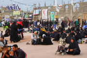 تصاویر | فعالیت ویژه هلال احمر در حاشیه پیاده روی اربعین