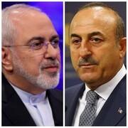 گفتوگوی تلفنی ظریف با وزیر خارجه ترکیه