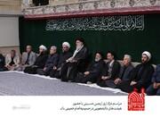مراسم عزاداری اربعین با حضور هیئتهای دانشجویی در محضر رهبر انقلاب