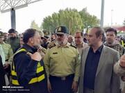 تصاویر | بازدید فرمانده نیروی انتظامی از پایانه مرزی مهران