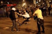 فیلم | رفتار خشن پلیس اسپانیا با جدایی طلبان کاتالونیا در بارسلون