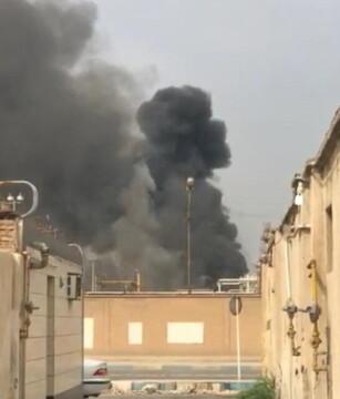 پالایشگاه آبادان آتش گرفت/ علت آتشسوزی: نشتی در یکی از واحدها