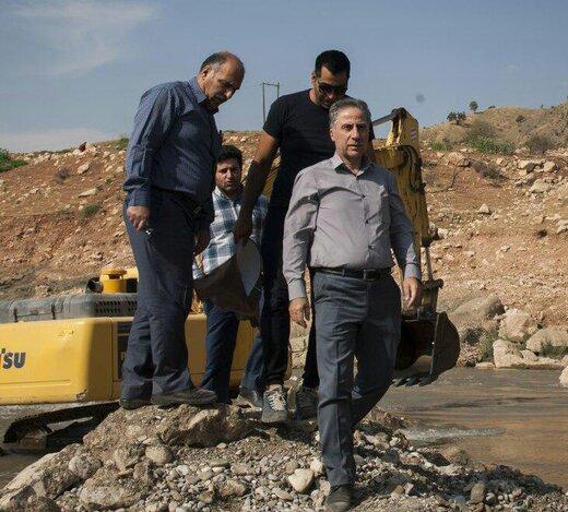 بازدید سرپرست شرکت گاز لرستان از عملیات مقاوم سازی خطوط گاز مناطق سیل زده