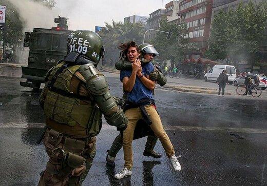 پاسخ رئیس جمهور شیلی به معترضان