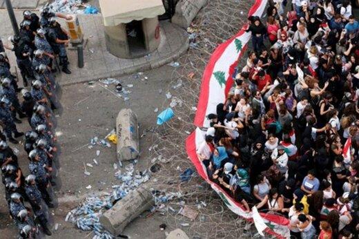 فیلم | مردم لبنان مسیرهای منتهی به مقر ریاستجمهوری و نخستوزیری را بستند