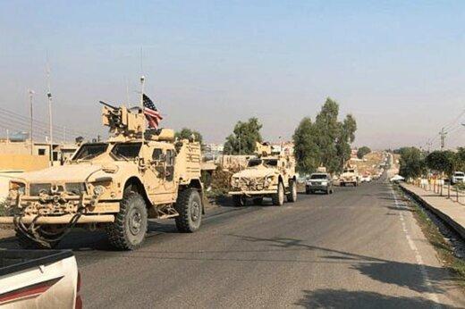 فیلم | عقب نشینی نظامیان آمریکا از سوریه به عراق