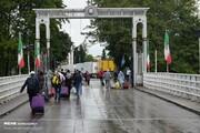 تصاویر | بدرقه زائران خارجی اربعین در مرز زمینی آستارا