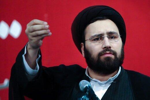 تصویری از مداح معروف در کنار نوه امام خمینی