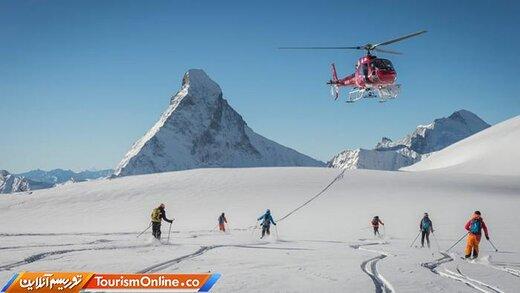 هلی اسکینگ؛ تفریح لاکچریِ پرطرفدار در سوئیس