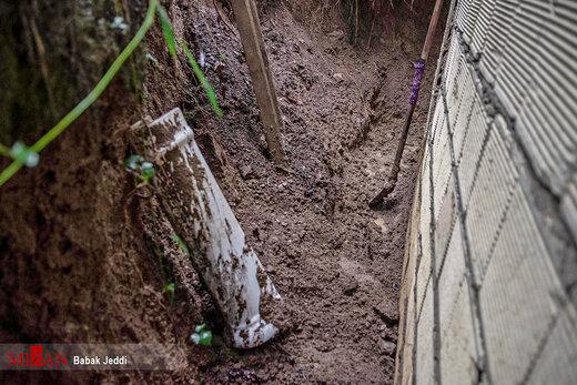 رانش زمین و سیلاب در روستاهای شهرستان شفت