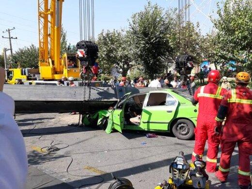 سقوط مرگبار دو کارگر از جرثقیل ۲۰ متری
