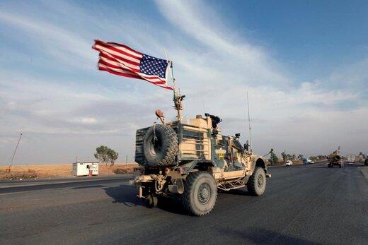 کاروان وسایلنقلیه آمریکا پس از عقبنشینی از شمال سوریه، در اربیل عراق مشاهده میشود