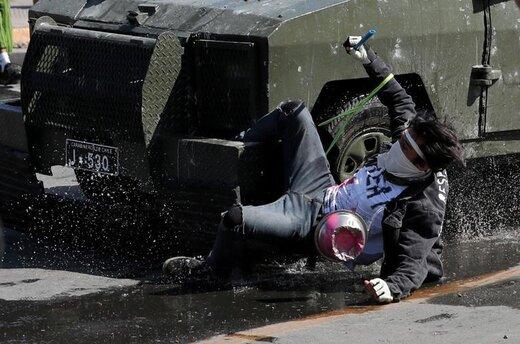 اعتراضات به سیاست اقتصادی دولت در شهر سانتیاگو شیلی