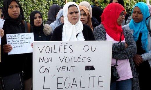 واکنش مکرون به اهانت یک نماینده فرانسه به زن محجبه