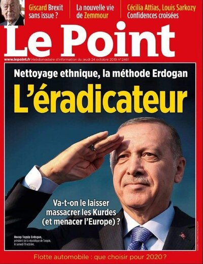 اردوغان از مجله فرانسوی شکایت کرد