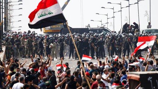 30 کشته و 1800 زخمی در تظاهرات عراق/بغداد و کربلا امنیتی شد/دفاتر حشد الشعبی آتش گرفت