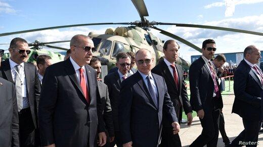 اردوغان با پوتین رایزنی کرد