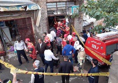 مرگ ۲ پسربچه بر اثر ریزش کف مغازه/عکس