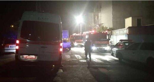 آتشسوزی کارگاه در البرز سبب مشکل تنفسی هفت نفر شد