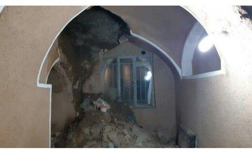 تخریب مسجد باستانی در نجم آباد طالقان با نخستین بارش پاییزی
